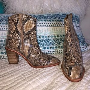 Free People snakeskin booties